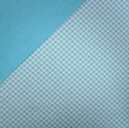 Fabric Felt :: Turquoise Diagonal Gingham on Turquoise