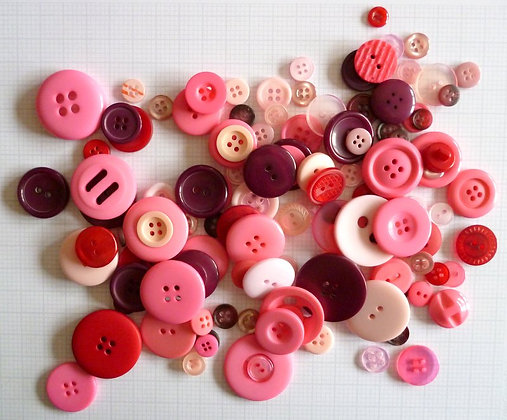 Buttons By Weight :: Pink & Red
