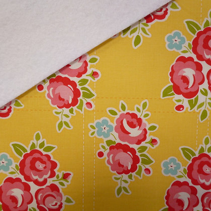 Fabric Felt :: Yellow Rose on White