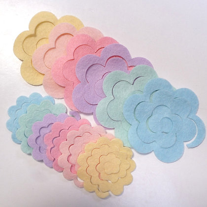 Die Cut Packs :: 3D Roses :: Candy Pastel