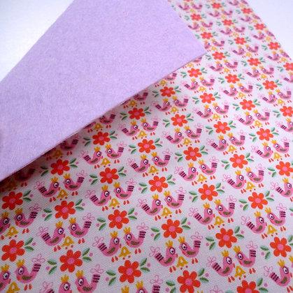 Fabric Felt :: V.K. Pink Birds & Mauve