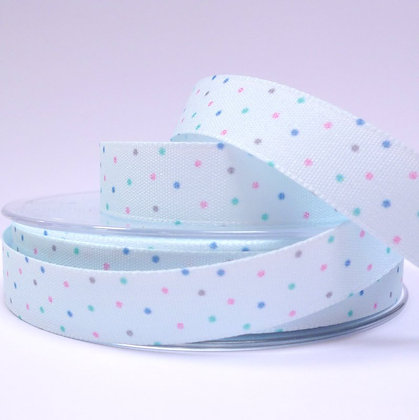 Baby Ribbon Mini Dots :: Sky Blue