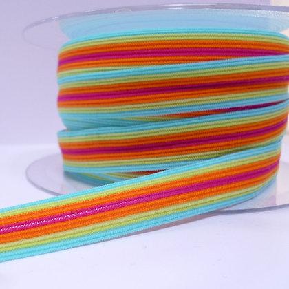 Pattern Fold Over Elastic :: Bright Stripes