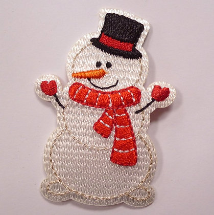Embroidered Motif :: Wrap Up Warm :: Snowman