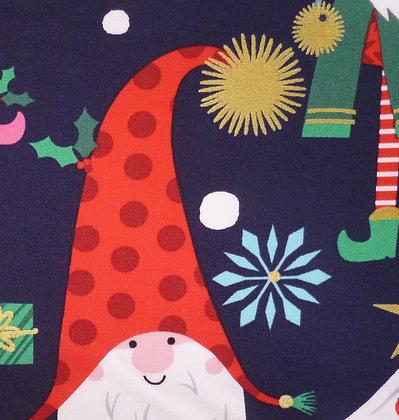 Fabric :: Snowglobe :: Navy Elf