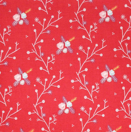 Fabric :: A Winter Tale :: Branches Red