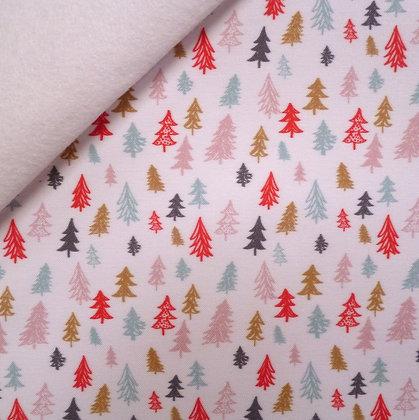 Artisan Fabric Felt :: Fir Trees on white