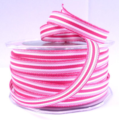 "3/8"" Stripe Ribbon :: Fuchsia"