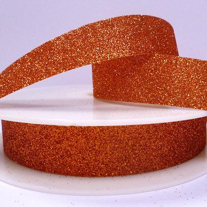 Fine Glitter Ribbon :: Orange