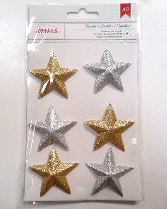 3D Star Christmas stickers