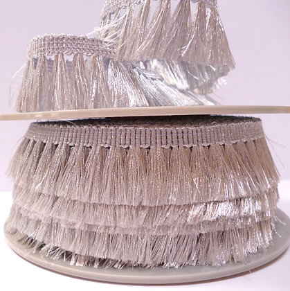 Metallic Tassel Fringe :: Silver