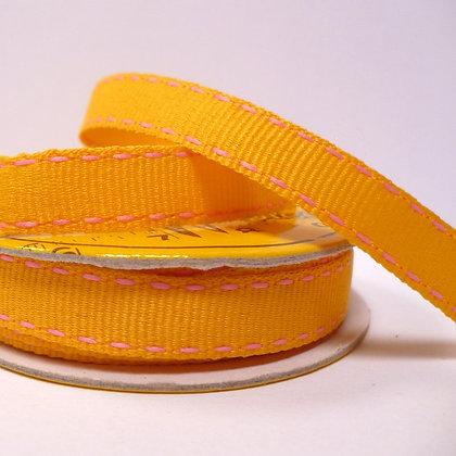 2m Spool :: Saddle Stitch :: Yellow & Pink