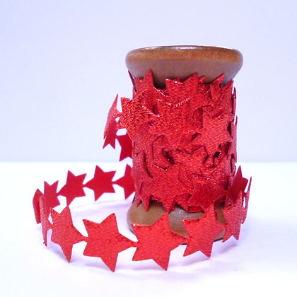 Trim On Wooden Spools :: Red Stars