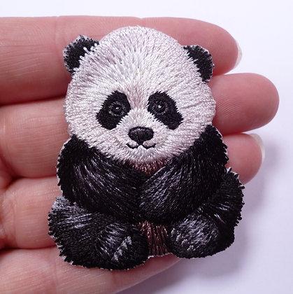 Embroidered Motif :: Shaped Panda