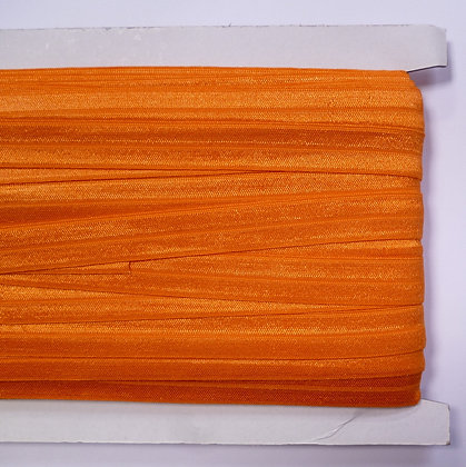 Satin Sheen Fold Over Elastic :: Orange