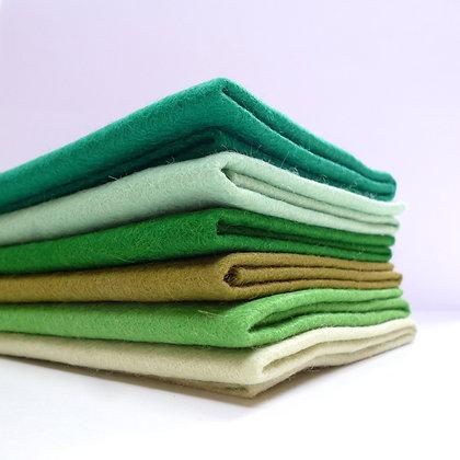 Premium Wool Felt Colour Pack :: Christmas Greens