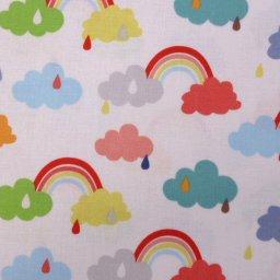 Fabric :: Noah's Ark :: Rainbow Clouds