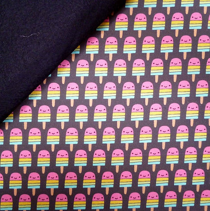 Fabric Felt :: Suzy's Minis :: Cute Bright Lollipops on Black