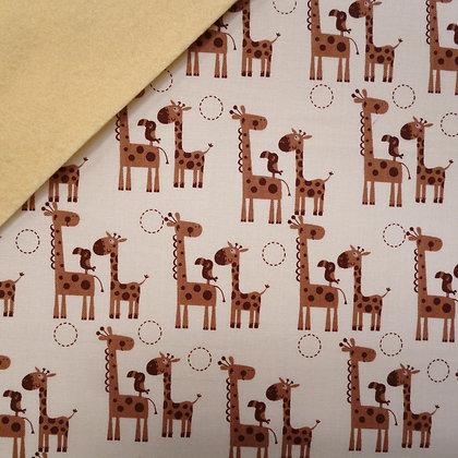 Fabric Felt :: Giraffe Crossing Giraffes on Vanilla