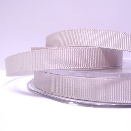 10mm grosgrain :: by the metre :: Silver
