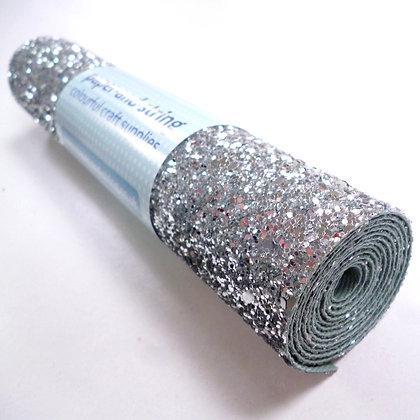 Chunky Glitter mini roll :: Silver