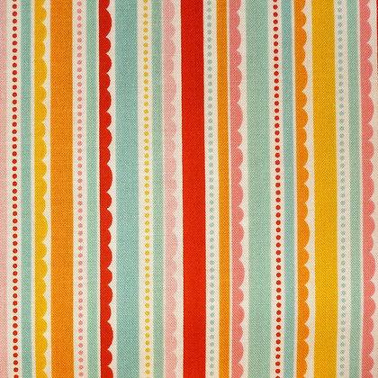 Fabric :: Happy Day :: Multi Scallop Stripes