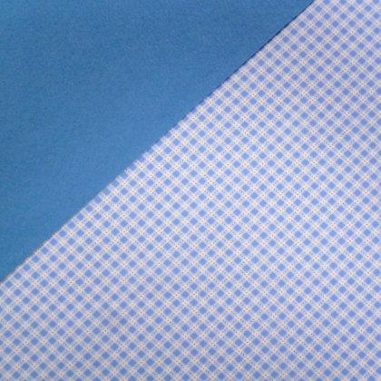 Fabric Felt :: Pale Blue Diagonal Gingham on Cornflower