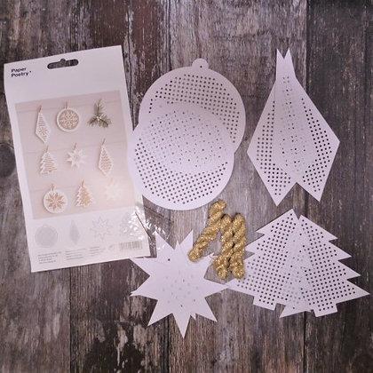 Stitchables :: White & Gold Christmas Kit