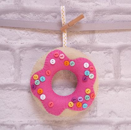 Handmade :: Doughnut :: Pink + Button Sprinkles