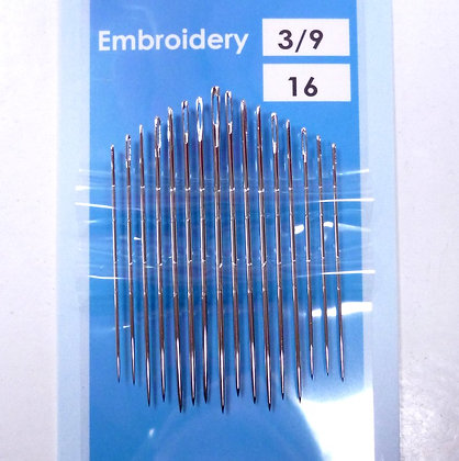 Embroidery Needles (size 3/9)