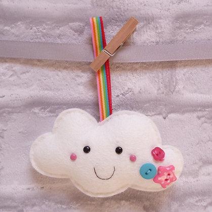 Handmade :: Fluffy Cloud :: M Happy + Rainbow ribbon