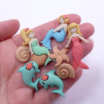 Fantastic Button Packs :: Splish Splash Mermaids