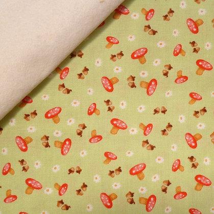 Fabric Felt :: Hugs & Love :: Toadstools & Acorns on Natural
