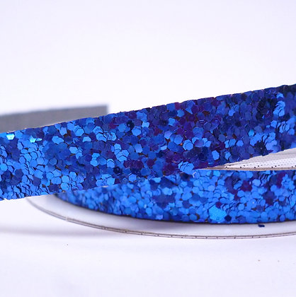 Chunky Glitter Ribbon Spool :: Dark Blue