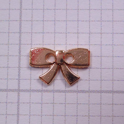 Metal Bow Button :: Rose Gold