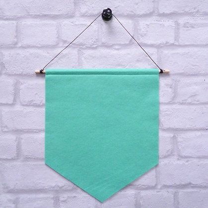 Sea Green :: Handmade banner for you to decorate