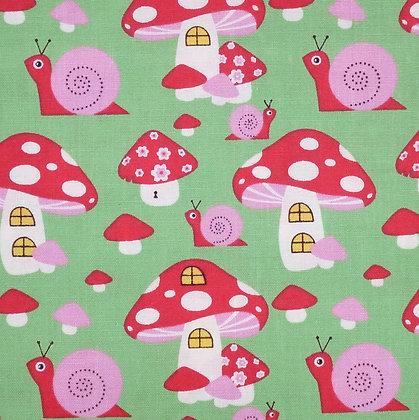 Fabric Felt :: Copenhagen Snail & Mushrooms on Natural LAST FEW