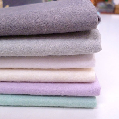 Premium Wool Felt Colour Pack :: Frosty Snowflake  II