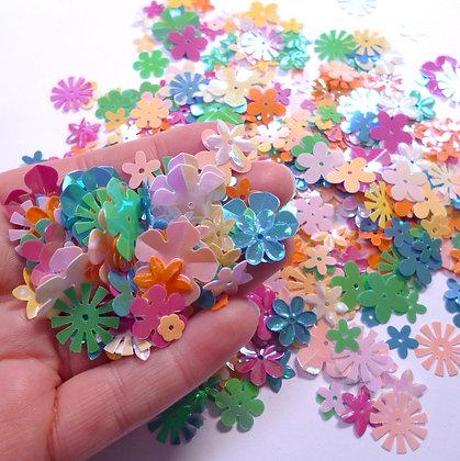 Pastel Flower Sequin Mix