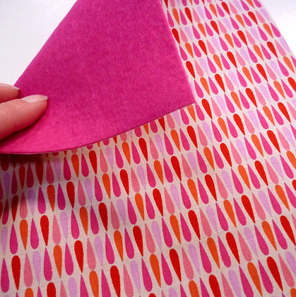 Fabric Felt :: V.K. Pink Drops & Cerise