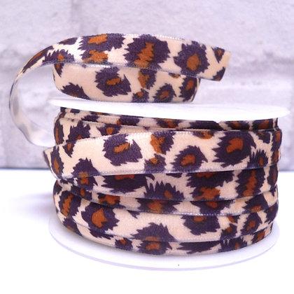 Velvet Leopard Ribbon :: 10mm