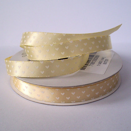 5yd Spools :: Cream Hearts