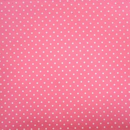 Bigger Polka Dots Felt Square :: MID PINK