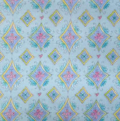 Fabric :: Waltz of Whimsy :: Blue Charmed Diamonds