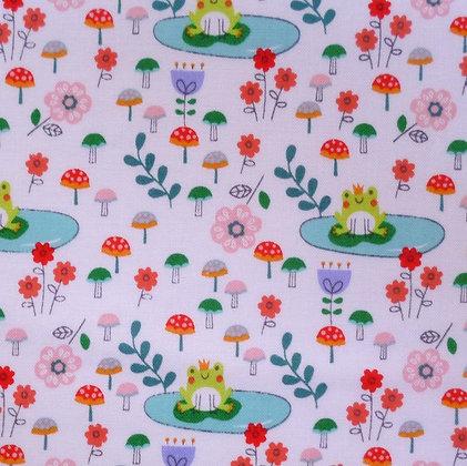 FQ SALE Fabric :: Princess Dreams :: Frog Prince FAT QUARTER