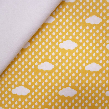 Fabric Felt :: Bloom Where Planted :: Yellow Clouds on White LAST FEW