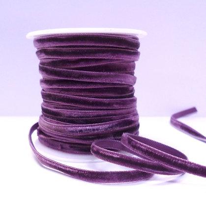 5mm velvet ribbon spool :: Damson