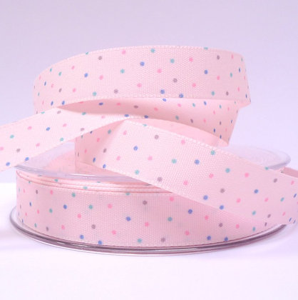 Baby Ribbon Mini Dots :: Pink
