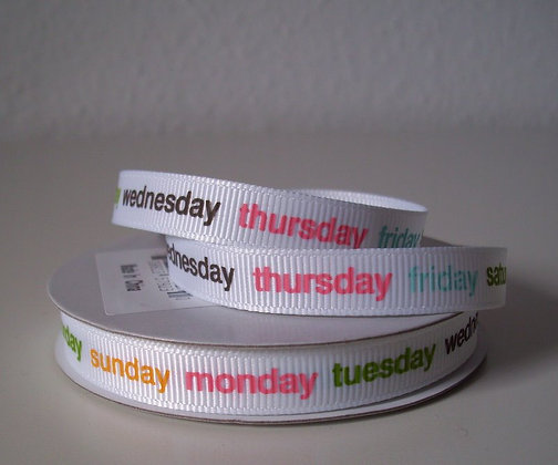 3yd Spools :: Days of the Week 57923