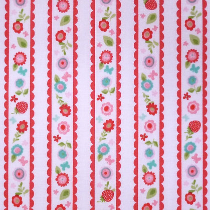 Fabric :: Butterflies & Berries :: Strawberry Stripes